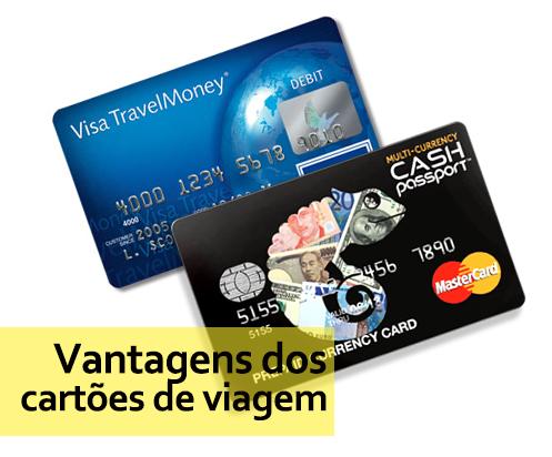 vantagens dos cartões de viagem